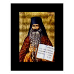 Padre Seraphim Rose Art Nouveau Poster