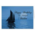 Padre, una tarjeta de cumpleaños del yate del clar