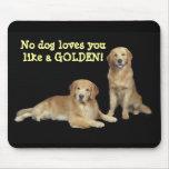 Padre y hijo Mousepad del golden retriever