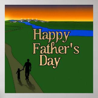 Padre y niño - el día de padre póster
