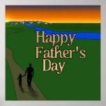 Padre y niño - el día de padre posters