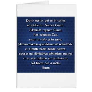 Padrenuestro Noster, nuestro padre Tarjeta De Felicitación