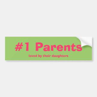 Padres #1 amados por su pegatina para el parachoqu etiqueta de parachoque