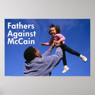 Padres contra el poster de McCain