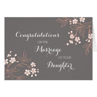 Padres de la enhorabuena del vintage de la novia tarjeta de felicitación