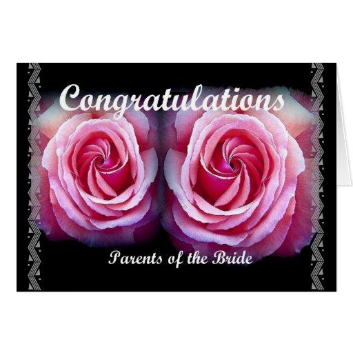 PADRES de la NOVIA - enhorabuena del boda Felicitacion