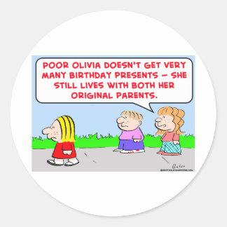padres de la original del cumpleaños etiquetas