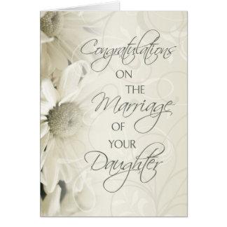 Padres de la tarjeta de la enhorabuena del boda de