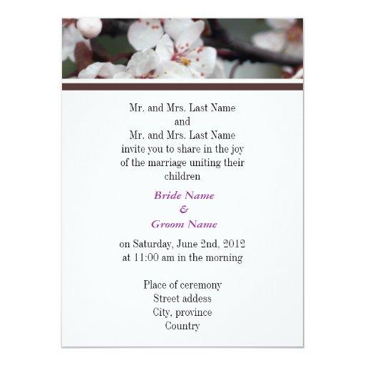 Padres de novia y del novio, casando la invitación