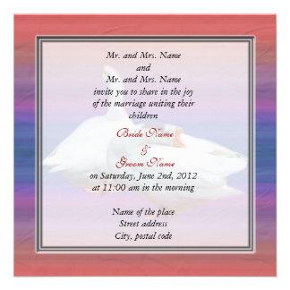 padres de novia y del novio que casan la invitació invitacion personal