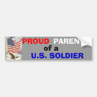 Padres de un soldado pegatina de parachoque
