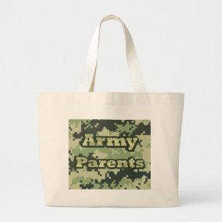 Padres del ejército bolsa tela grande