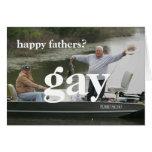 padres felices gay tarjeta de felicitación