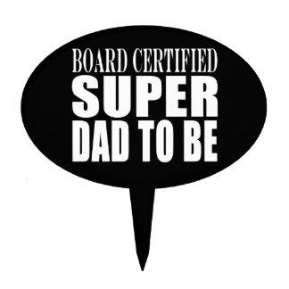Padres futuros: Papá estupendo certificado tablero Decoración Para Tarta