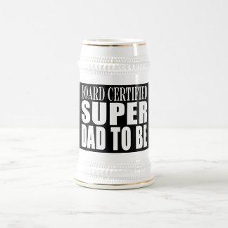 Padres futuros: Papá estupendo certificado tablero Jarra De Cerveza