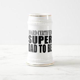 Padres futuros Papá estupendo certificado tablero Taza De Café