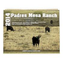 Padres Mesa Ranch Calendar 2014 Mar - Feb 2015 1.2