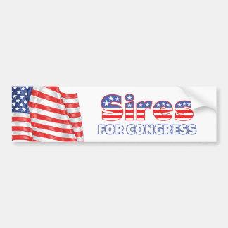 Padres para la bandera americana patriótica del co pegatina para auto