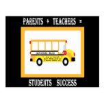 Padres + Profesores = éxito del estudiante (negro)