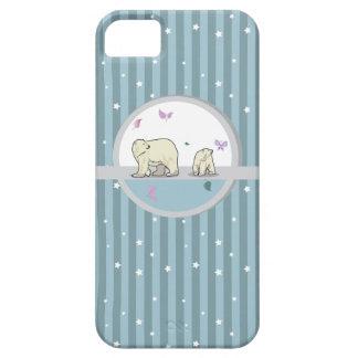 Padres y niño de los osos polares iPhone 5 Case-Mate coberturas