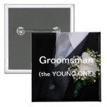 Padrino de boda el joven pins