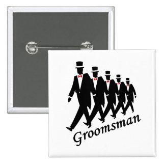 Padrino de boda (hombres) pin cuadrada 5 cm