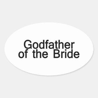 Padrino de la novia pegatina óval personalizadas