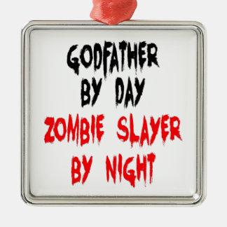 Padrino del asesino del zombi adorno de reyes