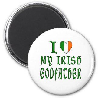 Padrino del irlandés del amor imán de nevera