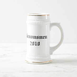 Padrinos de boda personalizados que casan el stein taza de café