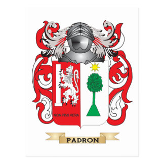 Padron Coat of Arms (Family Crest) Postcard