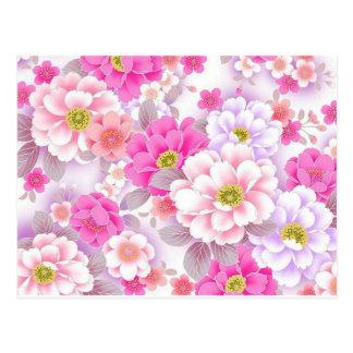 padrrão floral bonito postcard