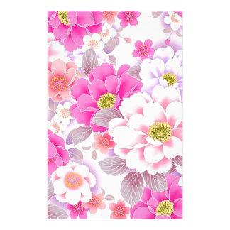 padrrão floral bonito stationery
