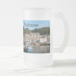 Padstow Cornwall England Frosted Glass Beer Mug