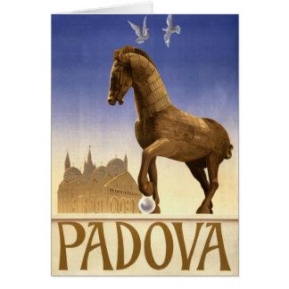 Padua Padova Italy Vintage Travel Poster Restored Card