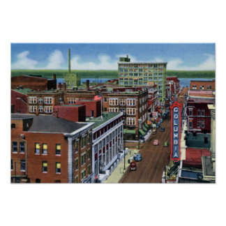 Paducah Kentucky Broadway looking to the Ohio Print