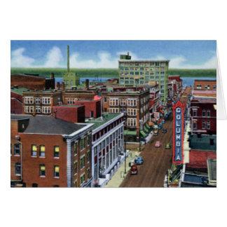 Paducah Kentucky Broadway que mira al Ohio Tarjeta De Felicitación