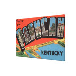 Paducah, Kentucky - Large Letter Scenes Canvas Print