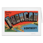 Paducah, Kentucky - Large Letter Scenes Greeting Card