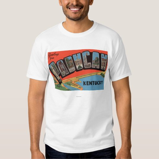 Paducah, Kentucky - Large Letter Scenes T Shirt