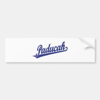 Paducah script logo in blue bumper sticker
