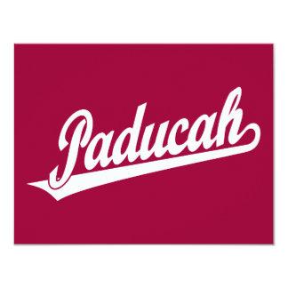 Paducah script logo in white card