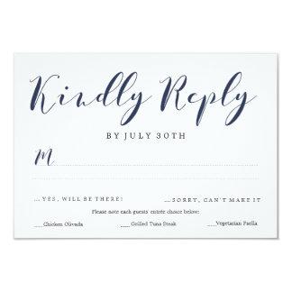Paduka Script RSVP | WEDDINGS Card