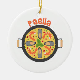 Paella Ceramic Ornament