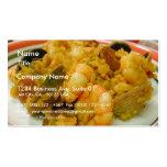 Paella Shrimp Clams Sausages Rice Business Card Templates