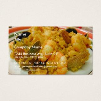 Paella Shrimp Clams Sausages Rice Business Card