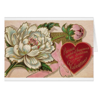 Paeonia Symbol of Happiness Card