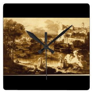 Paesaggio', Francesco_Studies of the Masters Square Wall Clock