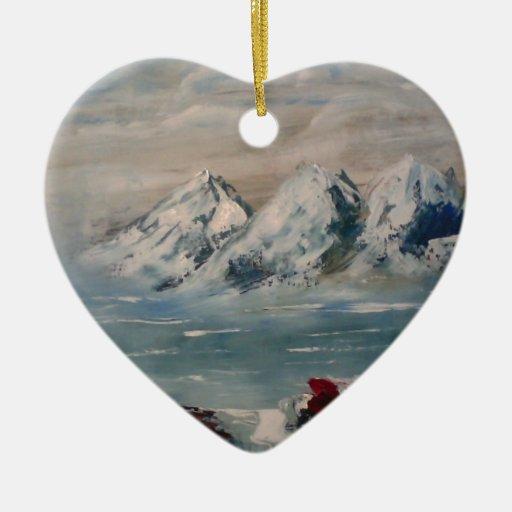 paesaggio.jpg adorno navideño de cerámica en forma de corazón