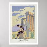 Paestum, 1924 (impresión del pochoir) posters